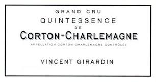 Domaine Vincent Girardin Corton-Charlemagne Grand Cru Quintessence label