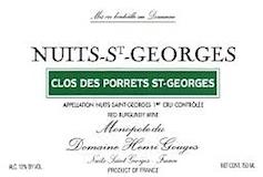 Domaine Henri Gouges Nuits-Saint-Georges Premier Cru Clos des Porrets-Saint-Georges label