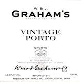 Graham's Porto  Vintage Port label