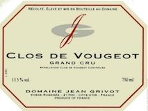 Domaine Jean Grivot Clos de Vougeot Grand Cru  label