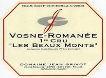 Domaine Jean Grivot Vosne-Romanée Premier Cru Les Beaux Monts label