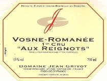 Domaine Jean Grivot Vosne-Romanée Premier Cru Aux Reignots label