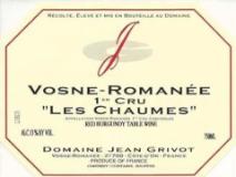 Domaine Jean Grivot Vosne-Romanée Premier Cru Les Chaumes label