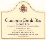 Domaine Robert Groffier Père et Fils Chambertin Clos de Bèze Grand Cru  label
