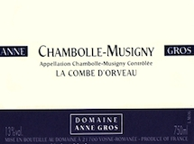 Domaine Anne Gros Chambolle-Musigny La Combe d'Orveaux label