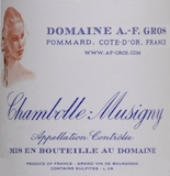 Domaine A.-F. Gros Chambolle-Musigny  label