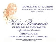 Domaine A.-F. Gros Vosne-Romanée Clos de la Fontaine label