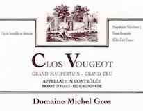 Domaine Michel Gros Clos de Vougeot Grand Cru  label