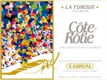 E. Guigal Côte Rôtie La Turque label