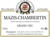 Domaine Harmand-Geoffroy Mazis-Chambertin Grand Cru  label