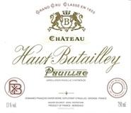Château Haut-Batailley  Cinquième Cru label
