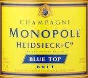 Heidsieck & Co Monopole Blue Top Brut label