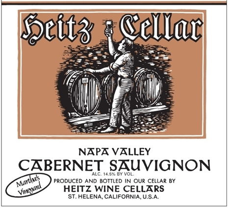 Heitz Cellar Martha's Vineyard Cabernet Sauvignon label