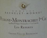 Domaine Bachelet-Monnot Puligny-Montrachet Premier Cru Les Referts label