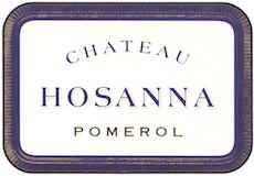 Château Hosanna  label