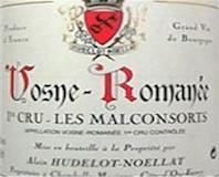 Domaine Hudelot-Noëllat Vosne-Romanée Premier Cru Aux Malconsorts label