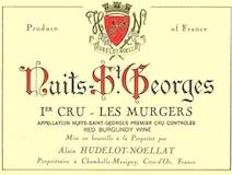 Domaine Hudelot-Noëllat Nuits-Saint-Georges Premier Cru Les Murgers label