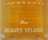 Jacques Selosse Rosé label