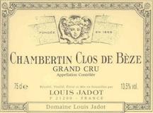 Maison Louis Jadot Chambertin Clos de Bèze Grand Cru  label