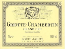Maison Louis Jadot Griotte-Chambertin Grand Cru  label