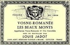 Maison Louis Jadot Vosne-Romanée Premier Cru Les Beaux Monts label