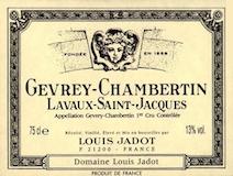 Maison Louis Jadot Gevrey-Chambertin Premier Cru Lavaux Saint-Jacques label