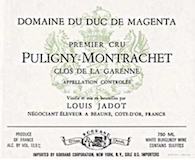 Maison Louis Jadot Puligny-Montrachet Premier Cru Clos de la Garenne Domaine du Duc de Magenta label