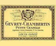 Maison Louis Jadot Gevrey-Chambertin Premier Cru Petite Chapelle label