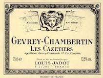 Maison Louis Jadot Gevrey-Chambertin Premier Cru Les Cazetiers label