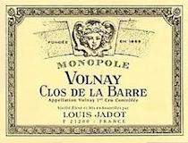 Maison Louis Jadot Volnay Premier Cru Clos de la Barre label