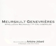 Domaine Antoine Jobard Meursault Premier Cru Genevrières label