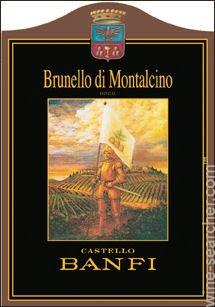Castello Banfi Brunello di Montalcino  label