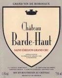 Château Barde-Haut  Grand Cru Classé label