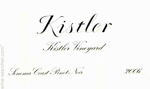 Kistler Vineyards Kistler Pinot Noir label