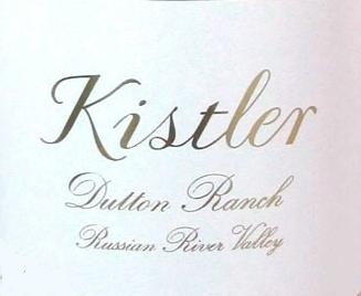 Kistler Vineyards Dutton Ranch Chardonnay label