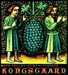 Kongsgaard Hudson Vineyard Syrah label
