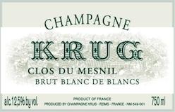 Krug Clos du Mesnil label