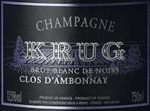 Krug Clos d'Ambonnay label