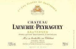 Château Lafaurie-Peyraguey  Premier Cru label
