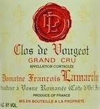 Domaine François Lamarche Clos de Vougeot Grand Cru  label