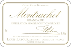 Maison Louis Latour Montrachet Grand Cru  label