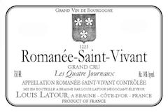 Maison Louis Latour Romanée-Saint-Vivant Grand Cru Les Quatre Journaux label