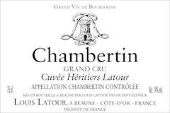 Maison Louis Latour Chambertin Grand Cru Cuvée Héritiers Latour label