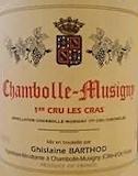 Domaine Ghislaine Barthod Chambolle-Musigny Premier Cru Les Cras label