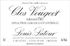 Maison Louis Latour Clos de Vougeot Grand Cru  label