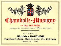 Domaine Ghislaine Barthod Chambolle-Musigny Premier Cru Les Fuées label