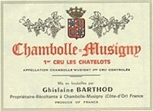 Domaine Ghislaine Barthod Chambolle-Musigny Premier Cru Les Chatelots label
