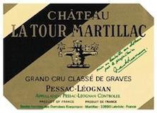 Château Latour-Martillac Blanc Cru Classé de Graves label