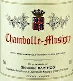 Domaine Ghislaine Barthod Chambolle-Musigny  label