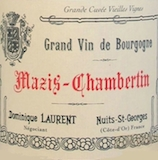 Dominique Laurent Mazis-Chambertin Grand Cru Vieilles vignes label